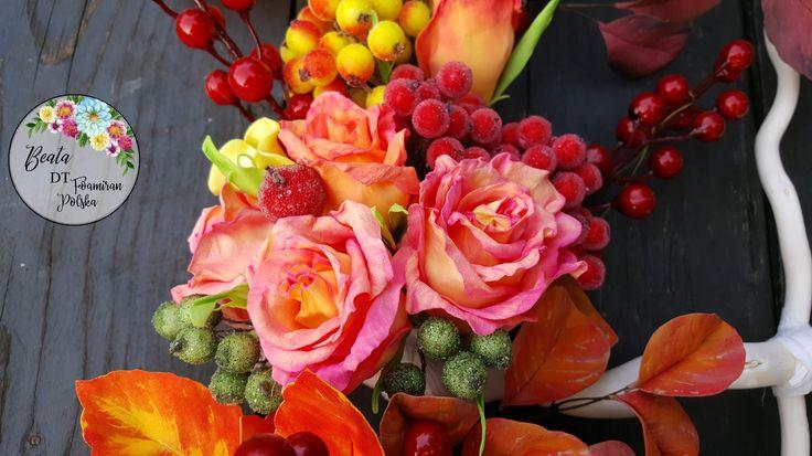 Kwiaty, róże z foamiranu  Dekorację z foamiranu  Foamiran flowers