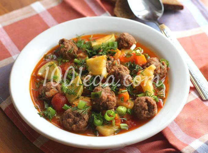 Мясные шарики с кабачками в томатном соусе в мультиварке: рецепт с пошаговым фото