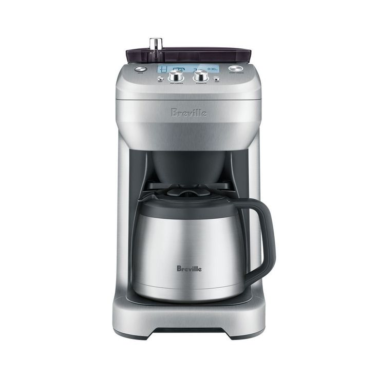 The first coffee maker with an adjustable grinder, Breville's Grind Control lets you customize the flavor of every cup. | Stainless steel and die cast metal | Wipe clean; hand wash parts | Imported |