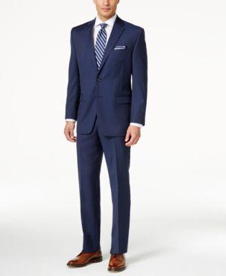 Lauren Ralph Lauren Light Navy Flat Front Solid Ultraflex Classic-Fit Suit - Suits & Suit Separates - Men - Macy's