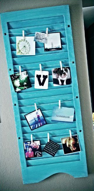 Upcycled Shutter Picture Frame