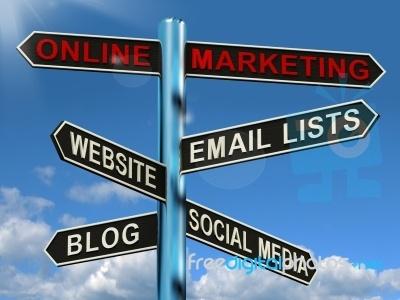 Online Marketing Signpost very nice