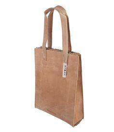 My Paper Bag Zipper Long Handles Handtassen MYOMY