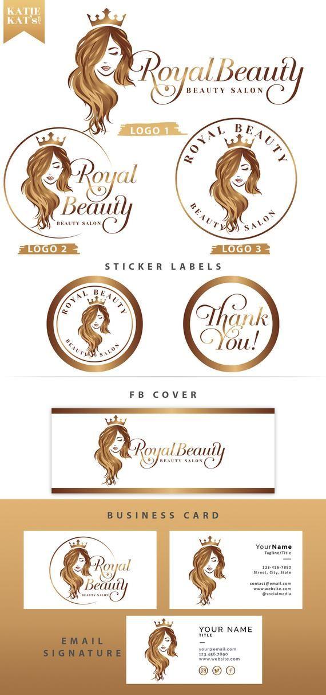 Royal Beauty Queen Logo Beauty Spa Logo Hair Stylist Logo Woman Logo Cosmetics Logo Spa Logo Elegant Beauty Logo Hair Salon Logo In 2021 Beauty Spa Logo Hair Stylist Logo Hair