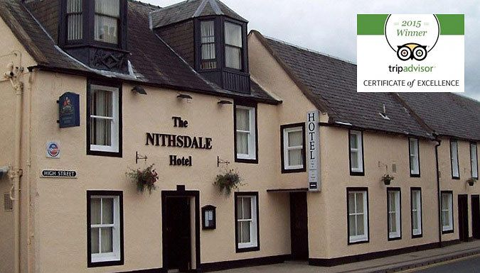 Dumfries & Galloway, Scotland: 2-3 Night Stay For Two - Save Up To 69% Settle into the charming countryside of Nith Valley for a 2-3 nights stay at The Nithsdale Hotel      Includes a full Scottish breakfast each morning      Situated in the breath-taking lands of Sanquhar      Spoil yourself with the impressive views of the River Nith      Embrace the countryside with a realm of activities...