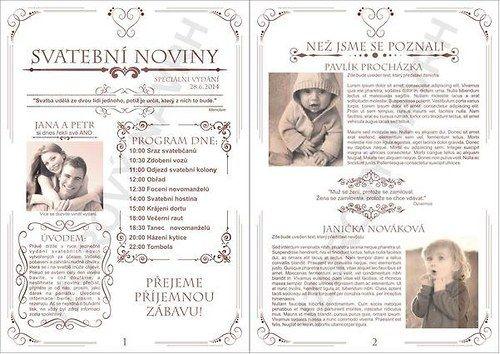 Svatební noviny (10 výtisků A5) / Zboží prodejce W-day   Fler.cz