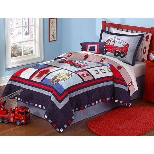 'Fireman' 3-piece Quilt Set - Overstock™ Shopping - The Best Prices on Kids' Quilts