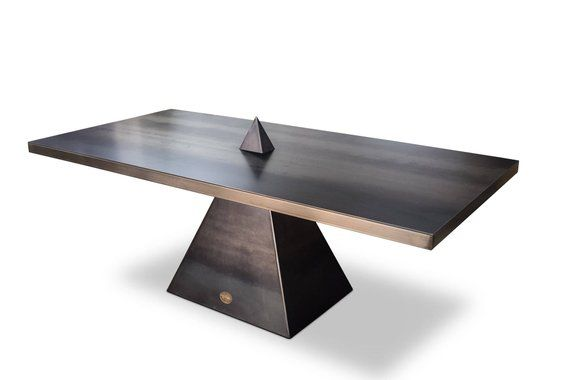 Using Simple Geometric Design The Tetra Table Is Modern Minimal Vintage Industrial Furniture Industrial Furniture Design Inspiration Diy Industrial Furniture