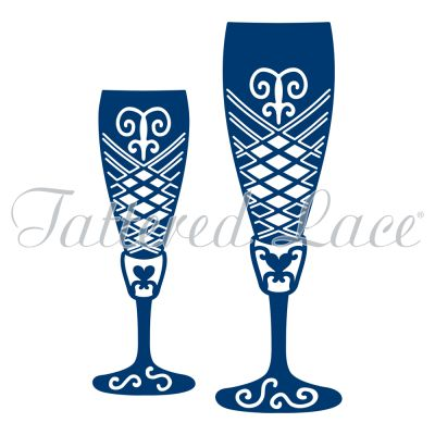 Champagne Glasses (D269) – Tattered Lace