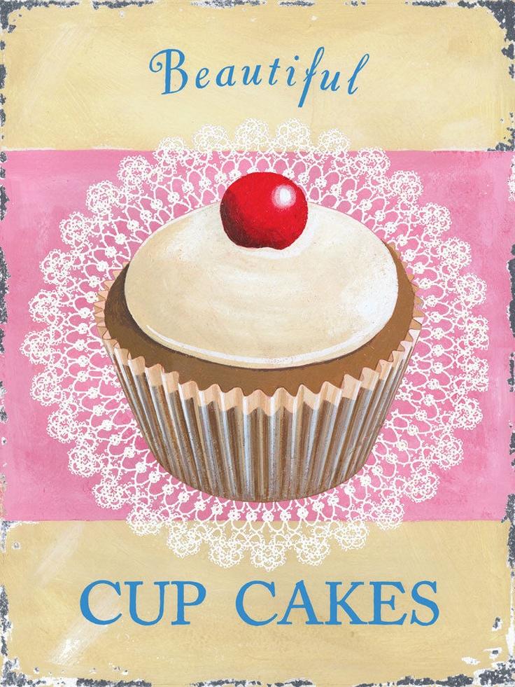 Cupcakes Metal Sign