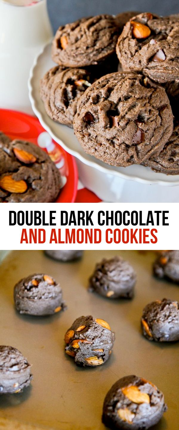 Double Dark Chocolate And Almond Cookies. This recipe is a huge hit with chocolate lovers!