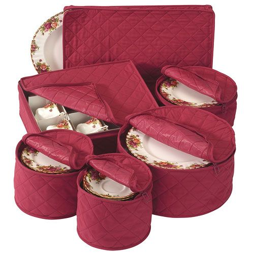 Keep Your Holiday Dishes Safe While In Storage When You Have This Holiday China  Storage Set