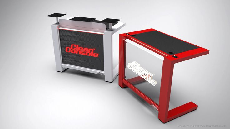 "The ClearConsole CUBE 48"" LED with clear and black front panels"
