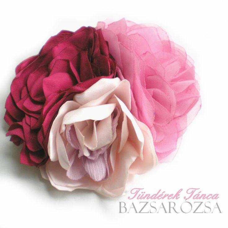 rózsaszín, virág, Bazsarózsa, kitűző