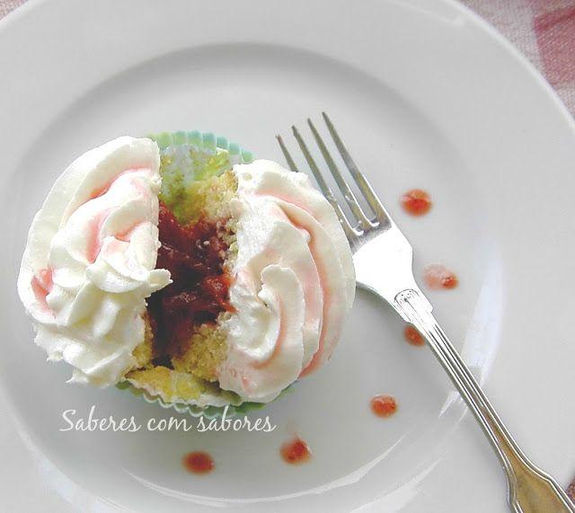 Saberes com Sabores: Cupcakes de Ruibarbo