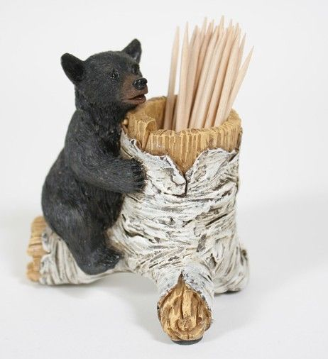 This Bear Cub Toothpick Holder Is The Perfect Decoration For Your Kitchen.