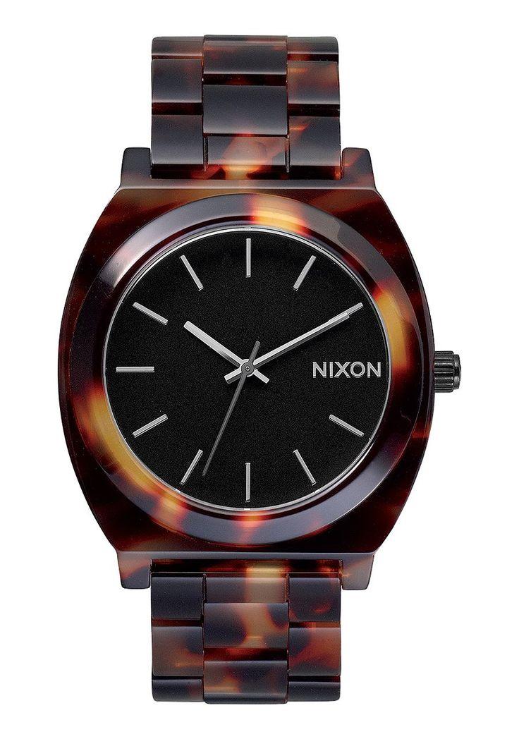 NIXON Time Teller Acetate Tortoise
