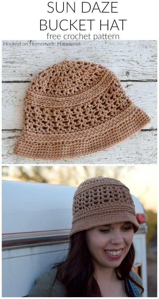 Sun Daze Bucket Hat Crochet Pattern | Hooked on Homemade Happiness