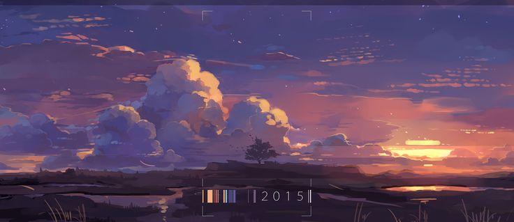 2015最後の夕焼け
