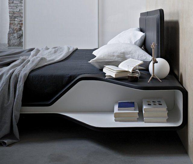 Ayrton Bed by Ora-ïtoInteriors Design, Cars Girls, Beds Frames, Bedside Tables, Night Stands, Beds Storage, Girls Style, Beds Sets, Beds Design