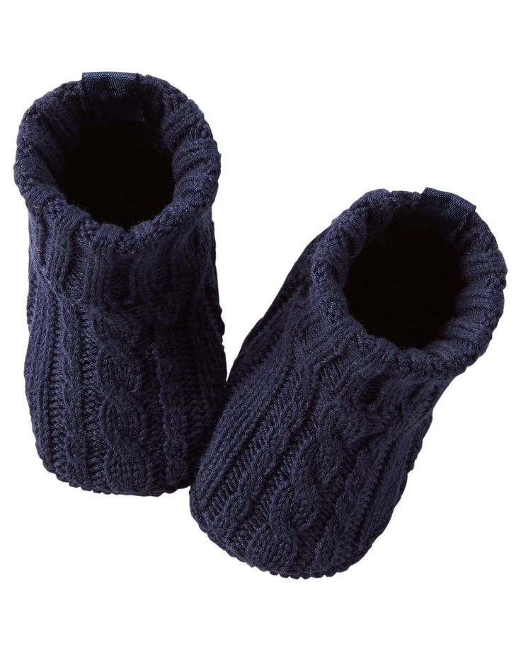 Baby Boy Cable-Knit Crocheted Booties | Carters.com