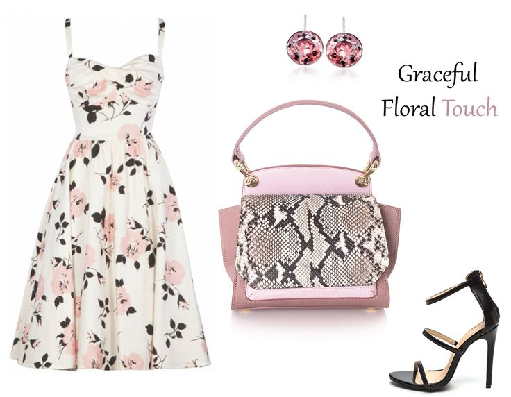 Floral prints are everywhere; delicate dresses in pink shades highlight your graceful silhouette while the right luxury accessories complement your wonderful look beautifully. Match your spring outfits with fabulous snakeskin bags in suave colors.
