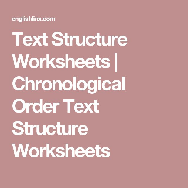 The 25+ best Text structure worksheets ideas on Pinterest Some - example of chronological order