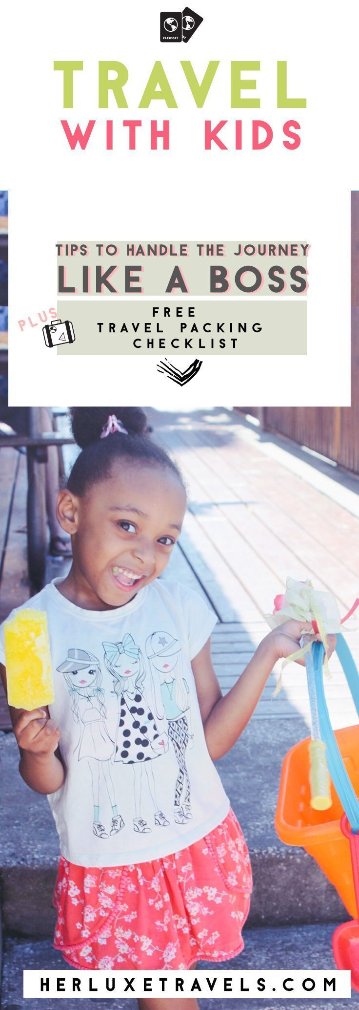 Bringing you My Absolute no nonsense TOP TIPS for traveling with kids , how to boss your way through the airport , PLUS a completely FREE packing list that ANYONE can use before their next vacay!  How to Pack like a Boss | Single Parent Travel Tips | Sing