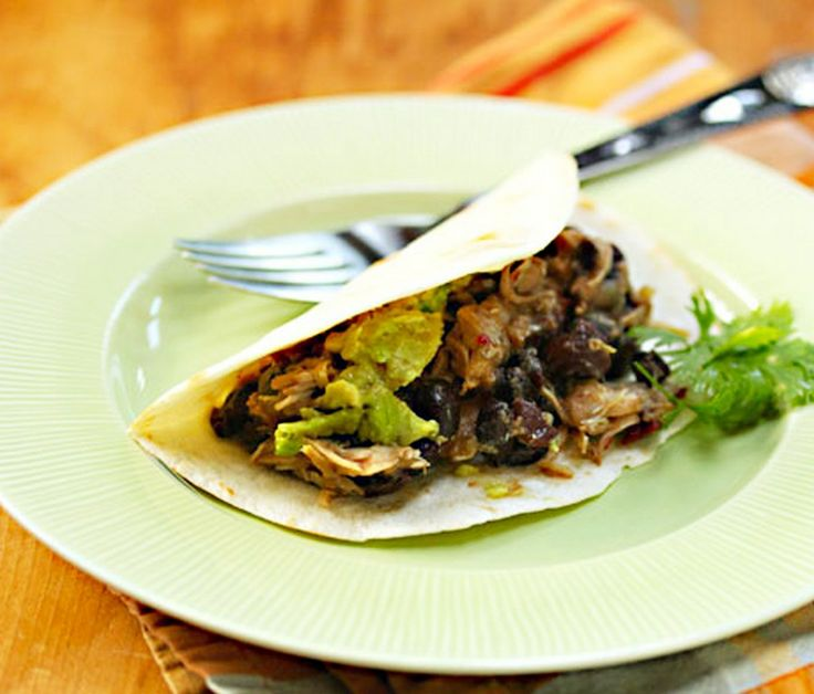 SLOW COOKER CHICKEN BLACK BEAN TACOS, Just because the weather is getting a little warmer doesn't mean we can't indulge in some yummy spring crockpot recipes! Lets celebrate the upcoming change in seasons with easy-to-prepare meals that are light and tasty. Although we usually associate crockpot meals with thick chili, stews and other heavy foods, I'm going to show you some spring crockpot recipes that are light, delicious and perfect for the new season!