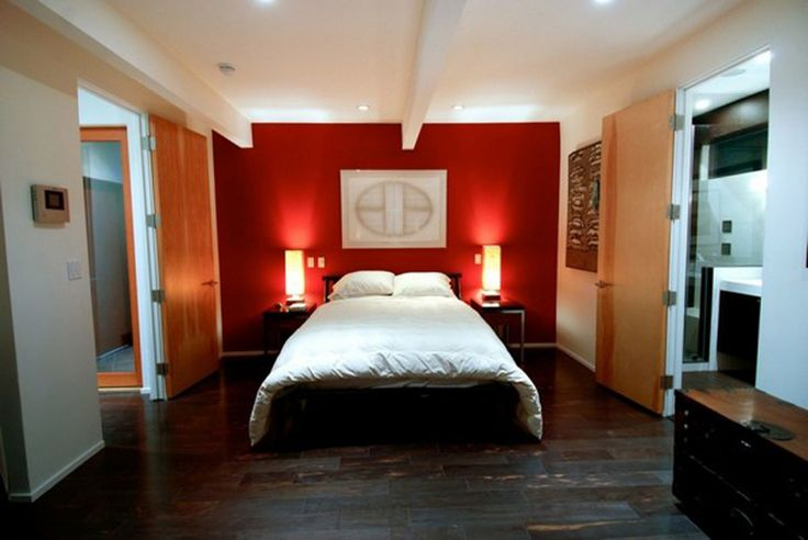 red wall bedroom design | red bedroom walls: red bedroom walls