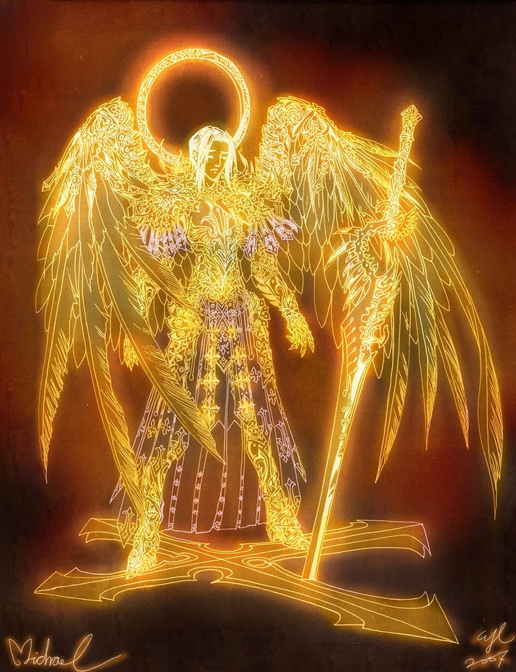 Archangel Michael & his sword.  Have a blessed night Miracles Crew. Love and Light~