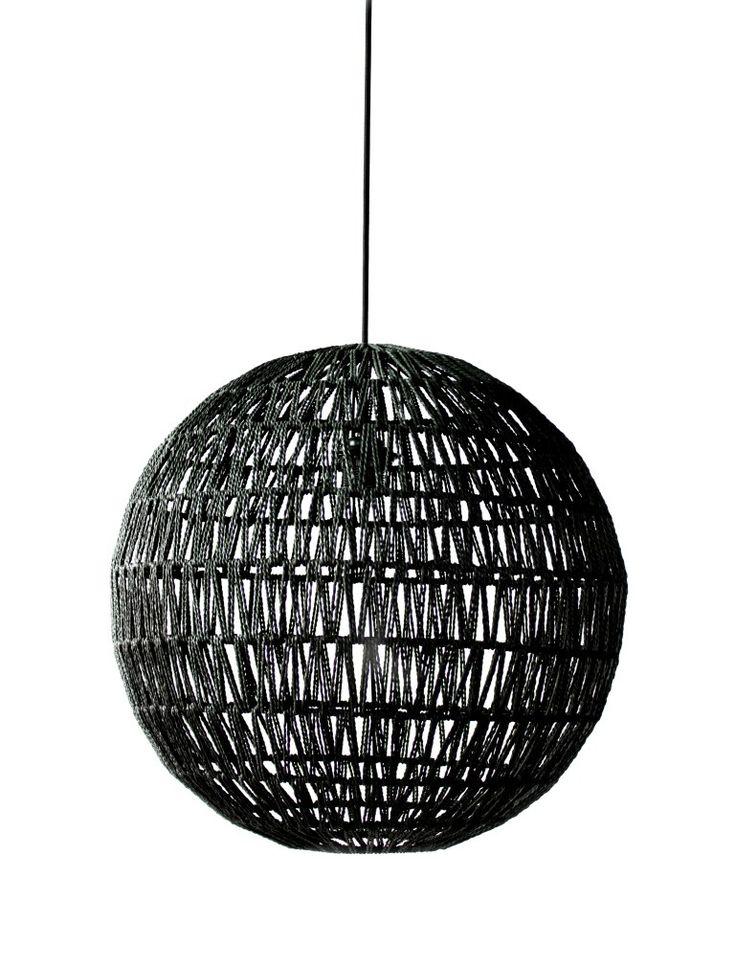 hanglamp bol zwart o5home €75