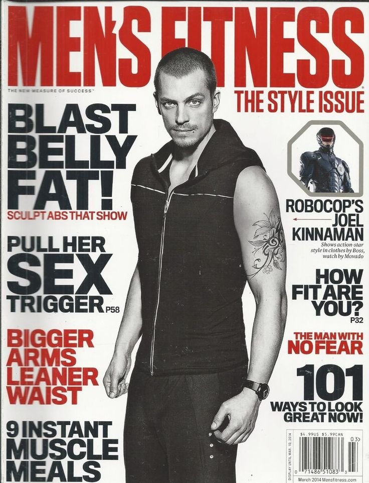 Mens Health magazine Joel Kinnaman Instant muscle meals Bigger arms Workouts