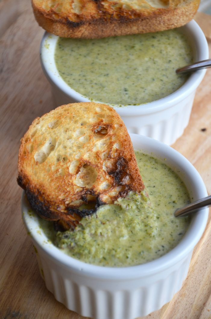 "Vegan ""Cheesy"" Broccoli Soup :: pinnner's note : steam the broccoli first. Steaming is the only cooking method that allows broccoli to retain its high nutritional value. (Do not cook in the microwave to steam.)"