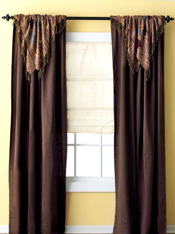 20 best pretty curtain scarf ideas images on pinterest for Window treatments for less