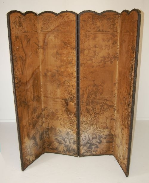 antique pole screens screen room divider folding antique tapestry
