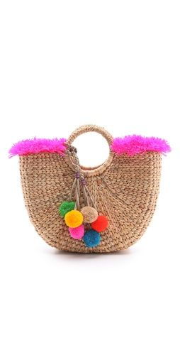JADEtribe Fringed Beach Basket Bag | SHOPBOP