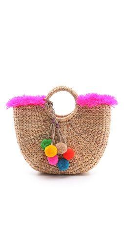 JADEtribe Fringe Beach Basket Bag