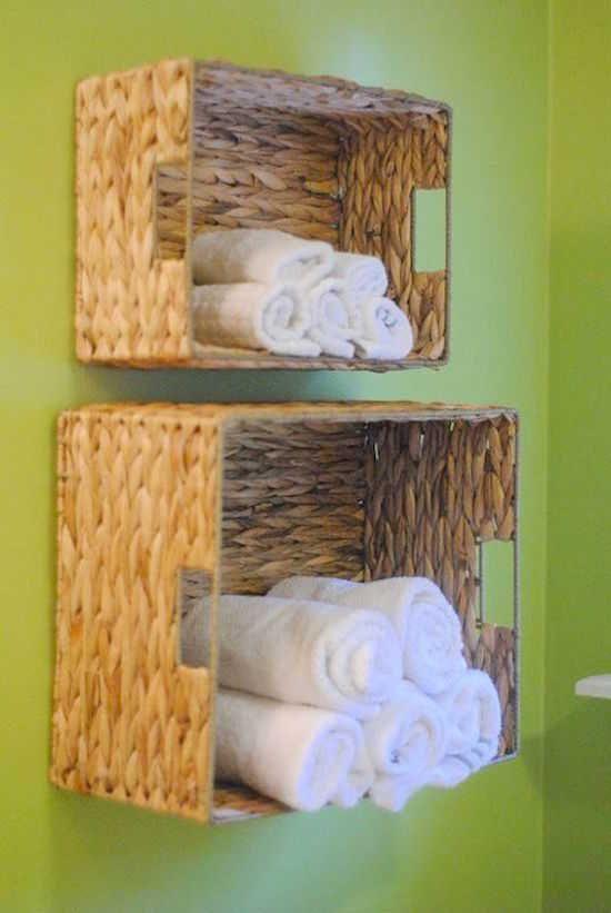 Connaissez-vous l'astuce pour facilement fabriquer des étagères pour les serviettes éponge ?