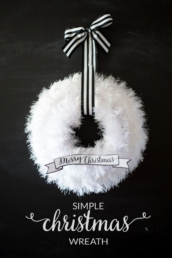 This is called a simple wreath for a reason. There are only a few steps to get this beautiful look. It's an affordable craft that can easily be done on a craft night with friends or watching your f...: