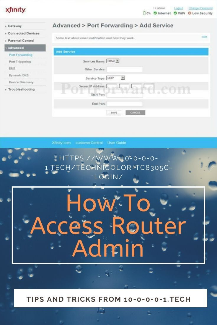 How To Login Into Technicolor Tc8305c Router Port Forwarding Best Router Router