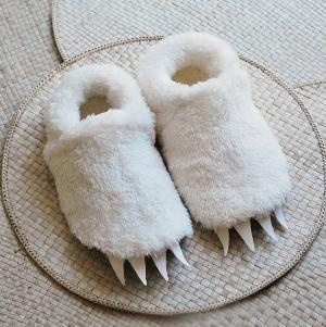 Adult Size Wolf Slippers inspired by Where the Wild by babycricket