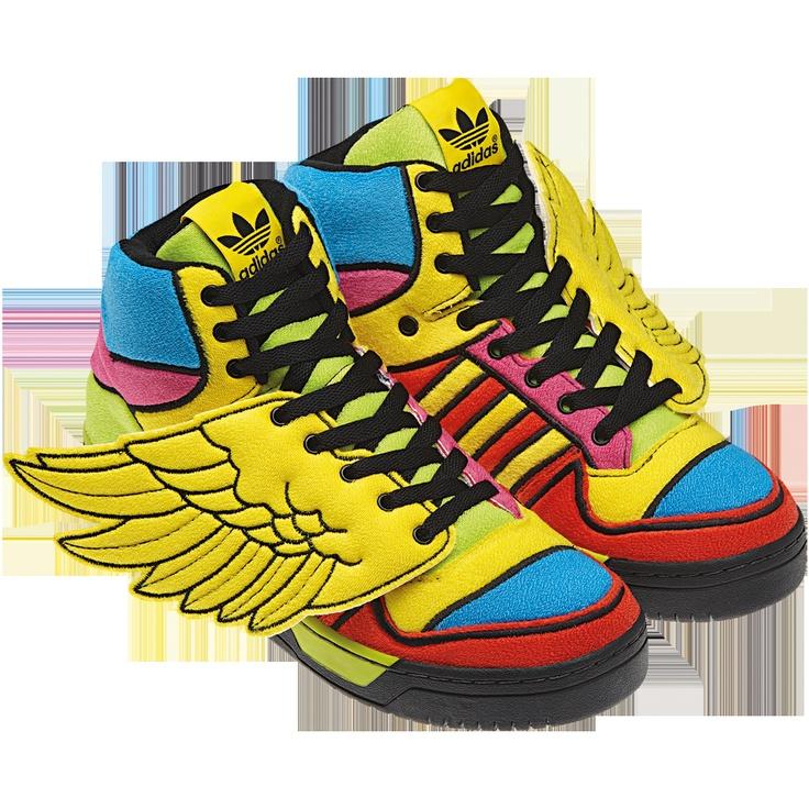 Wings in Colour by Jeremy Scott - Adidas Originals. Rainbow SneakersJeremy  ...