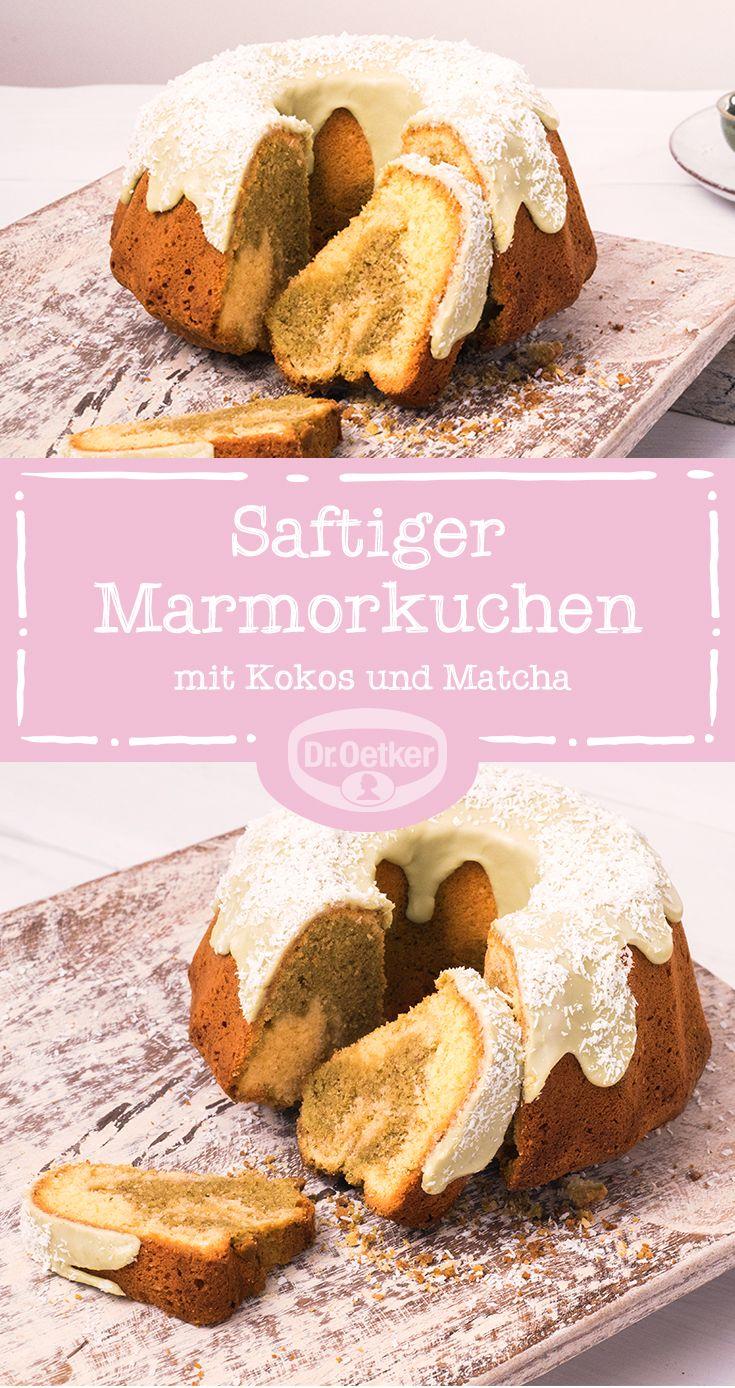 Kokos Matcha Marmorkuchen
