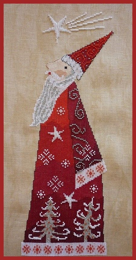 Christmas Night French counted cross by Christmasinstitches1