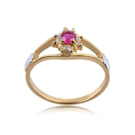 Anel de Formatura Ouro com Diamante 8 Pontos AG026