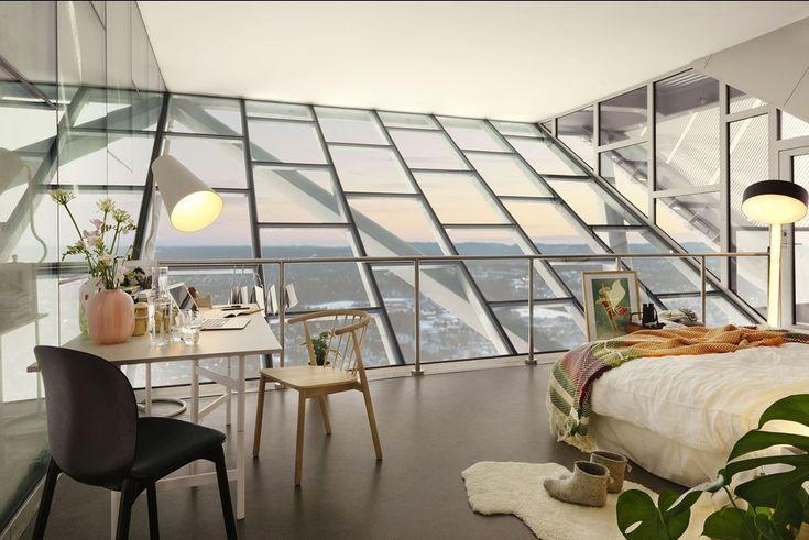 En Norvège, un penthouse... en haut d'un tremplin de saut à ski