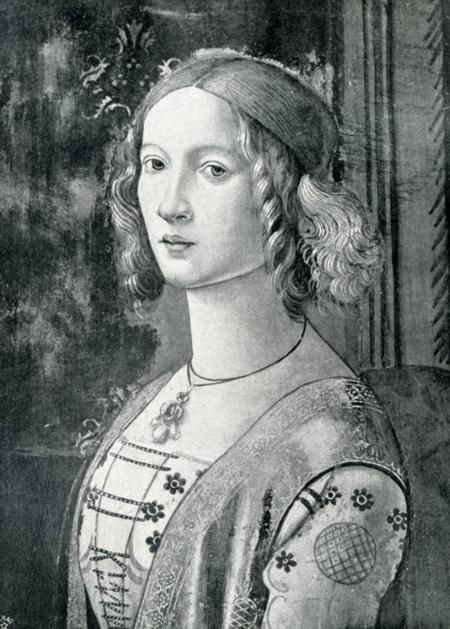 Lucrezia de' Medici, the favorite child of her father Lorenzo de' Medici.