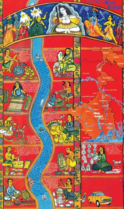 Craft Map Of West Bengal One On Many Map Ilrations From Jaya Jaitly S Craft