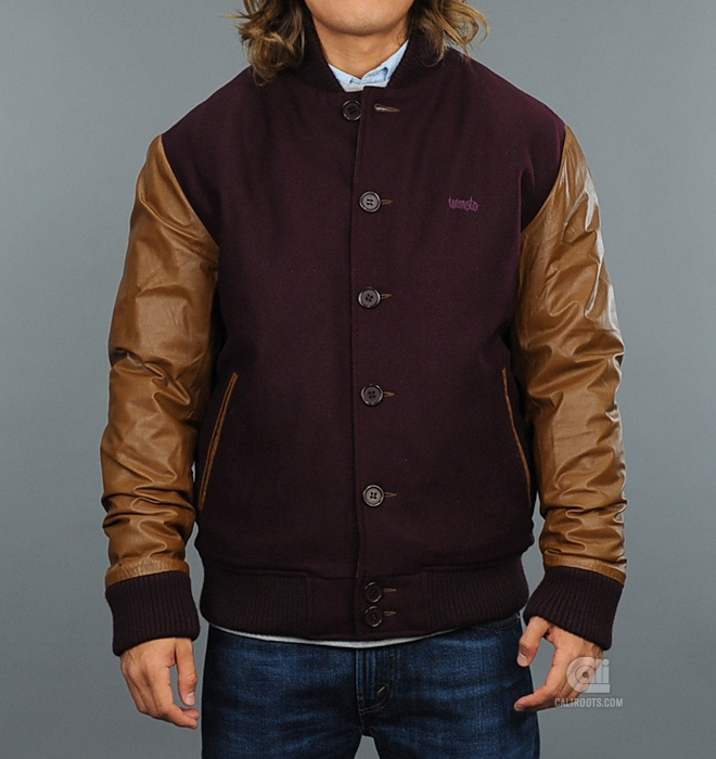 Brown varsity jacket – Modern fashion jacket photo blog